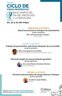 Ciclo de videoconferencias en el marco del Día del Psicólogo