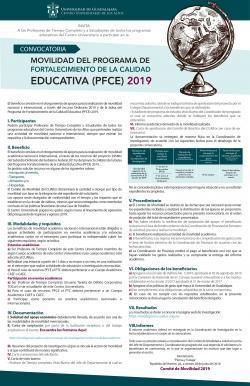MOVILIDAD DEL PROGRAMA DE FORTALECIMIENTO DE LA CALIDAD EDUCATIVA (PFCE) 2019