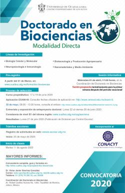 Doctorado en Biociencias, convocatoria 2020