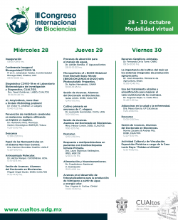 3er Congreso Internacional de Biociencias