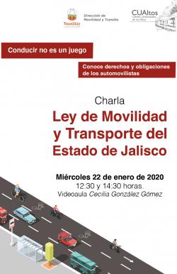 Charla Ley de Movilidad y Transporte del Estado de Jalisco