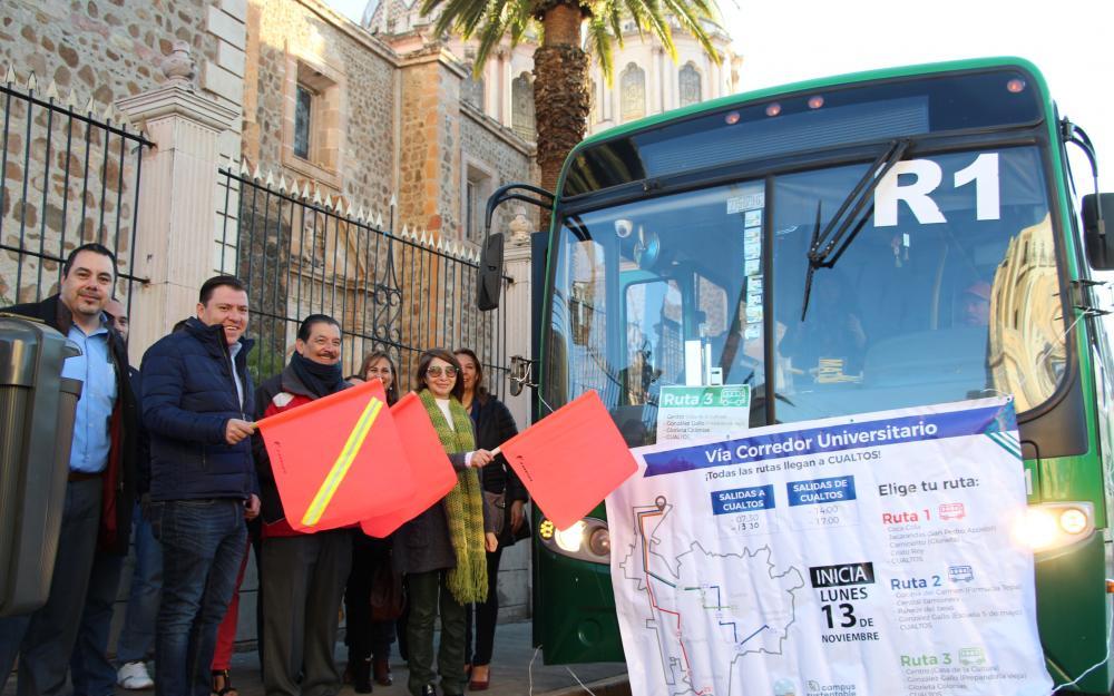 Inauguran nuevas rutas de transporte público que vendrán al CUAltos