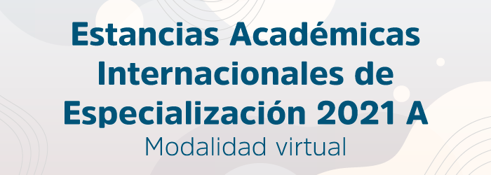 Estancias Académicas Internacionales de Especialización 2021 A