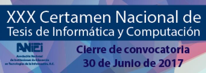 XXX Certamen Nacional de Tesis de Informática y Computación