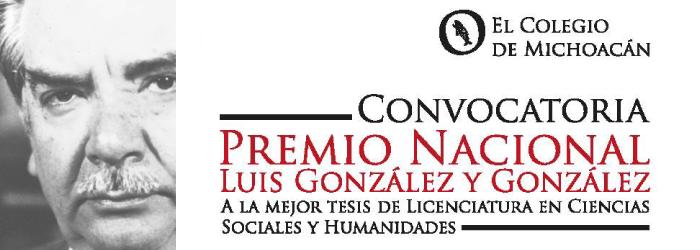 Convocatoria Premio Nacional Luis González y González