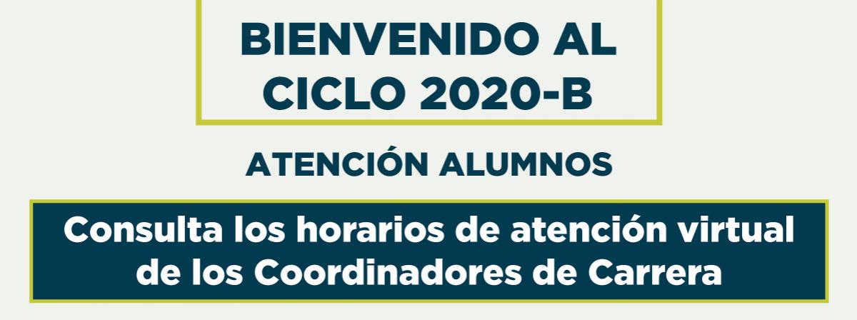 Bienvenidos al ciclo 2020-B