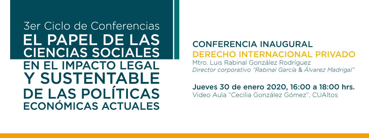 3er Ciclo de Conferencias - Conferencia Inaugural