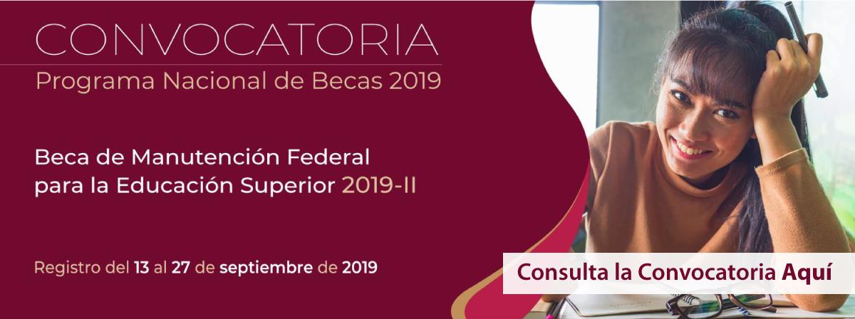 Beca de Manutención Federal para la Educación Superior 2019-II, registro antes del 27 de septiembre