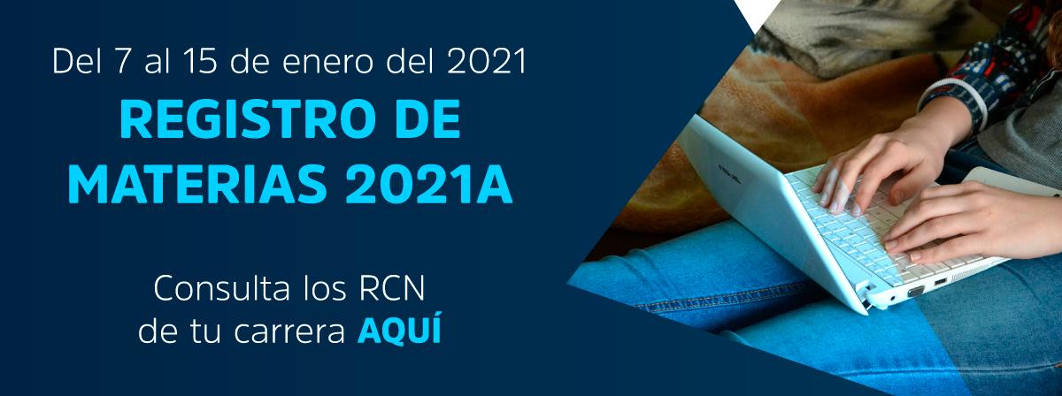 Registro de materias 2021A