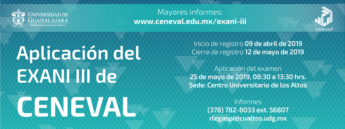 Aplicación del EXANI III de CENEVAL