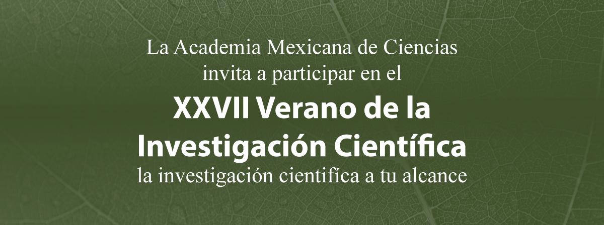 XXVII Verano de la Investigación Científica