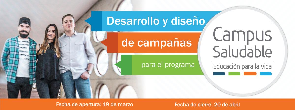 Desarrollo y diseño de campañas campus saludable, 19 de marzo.