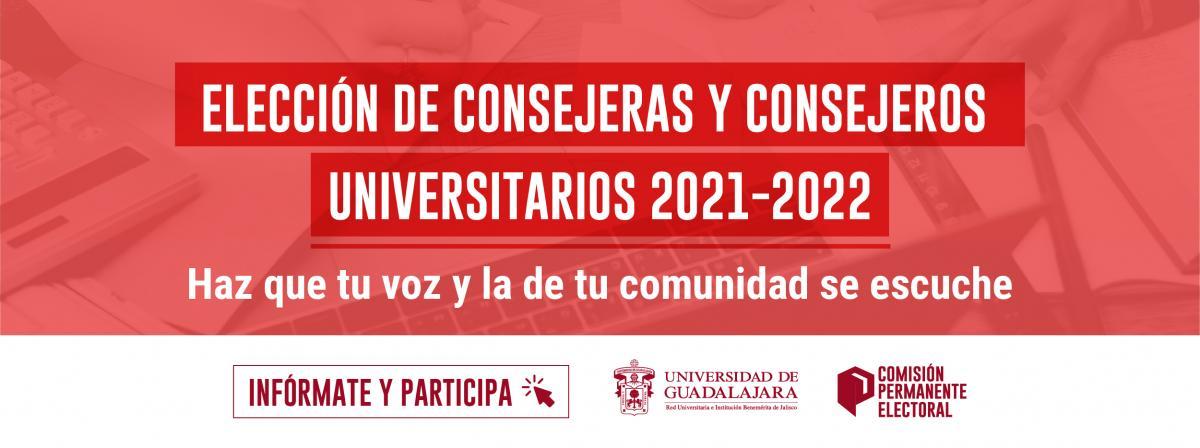 Elección de consejeras y consejeros universitarios 2021-2022. Participa